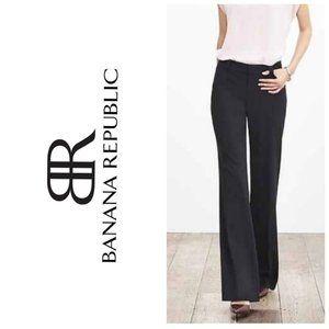 BANANA REPUBLIC Black Wool Jackson Wide Leg Pants